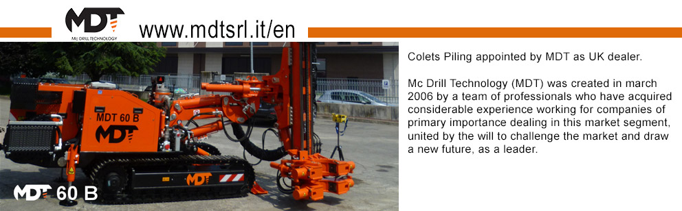 Mc Drill Technology (MDT) was created in march 2006