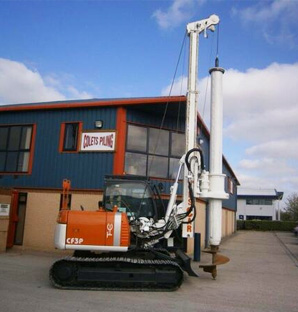 Then from 50 years ago Cheshire Rotary Rig - Colets Piling - Piling Contractor