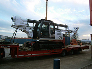 Tes Car CF6 arrives in UK - Colets Piling - Piling Contractor