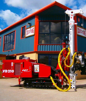 New EGT VD210 arrives in UK - Colets Piling - Piling Contractor
