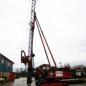 Hymac 880C with Hands England CFA rig