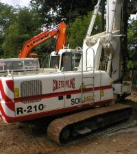 Soilmec 210 CFA - Colets Piling - Piling Contractor, UK