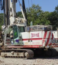 Soilmec R210 Rotary - Colets Piling - Piling Contractor, UK