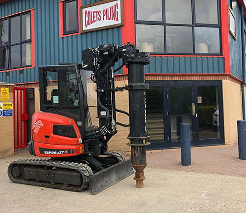 Geax XD8 - Piling Machine, Colets Piling