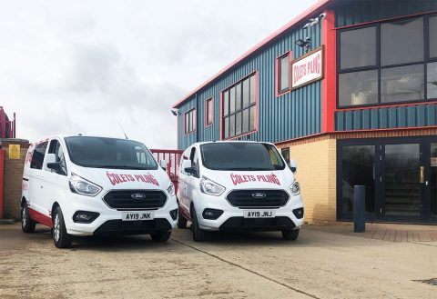 The first pair of 2019 vans have now been added to the fleet