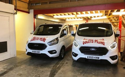 Ford Transit Customs arrive for Colets Piling to add to the fleet