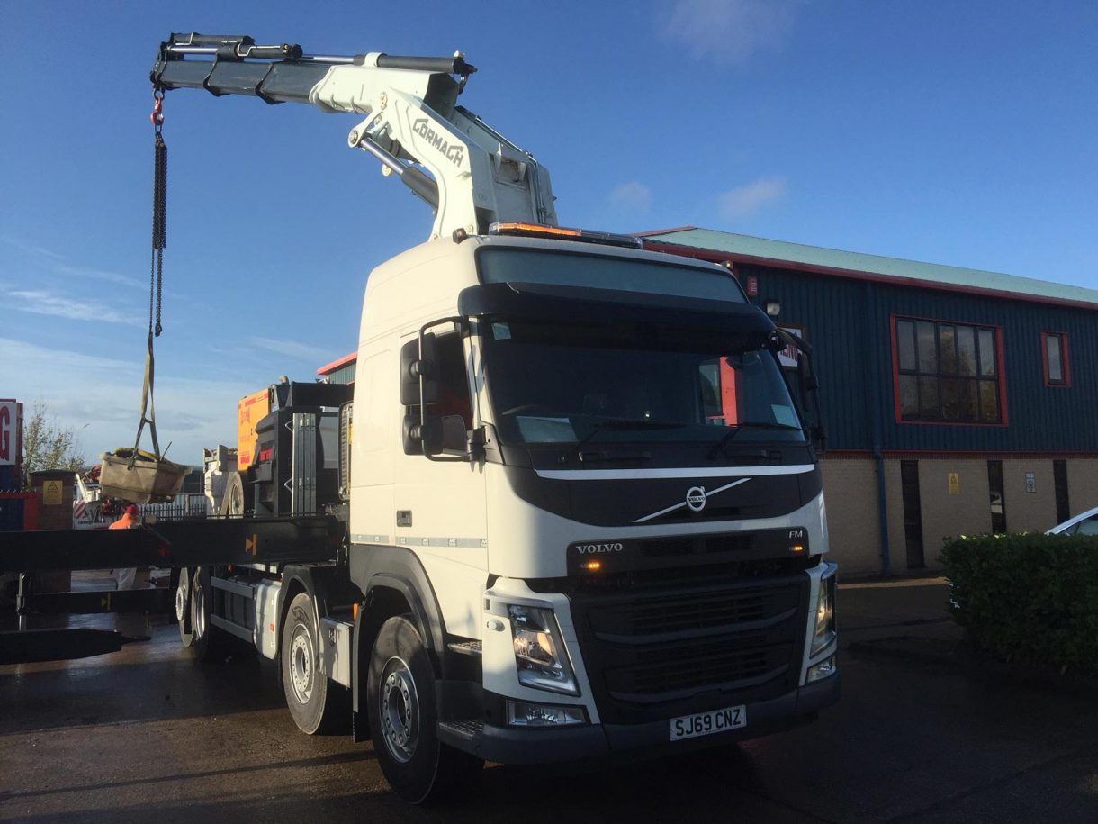 Colets extend transport division with addition of new Volvo FM12 with 52t/m crane on 8 x 4 chassis with rear steer fitted, plus drag unit.