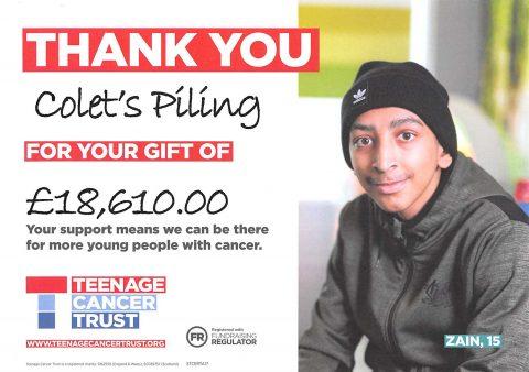 Colets Piling - Teenage Cancer Trust